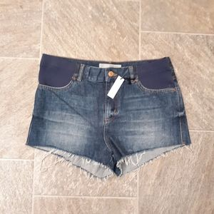 Topshop moto maternity jean shorts size 8